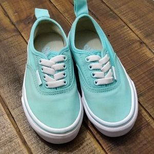 🌊Aqua Blue Vans Sneakers, Toddler 11